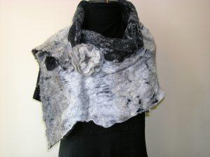 Wool on Cotton Shawl